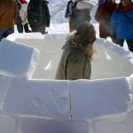 Séminaire construction igloo et raquettes